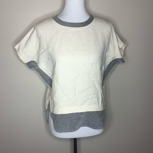 Madewell compilation crepe jersey tee white xs